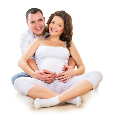 a couple: Happy Couple Expecting Baby   Stock Photo