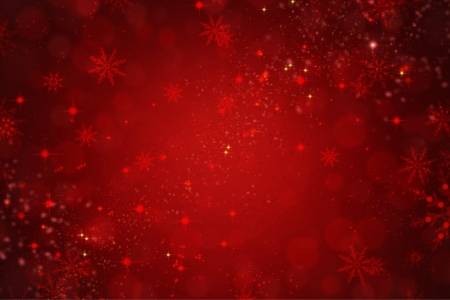 Red Holiday Christmas Background with Snowflakes and Stars  photo