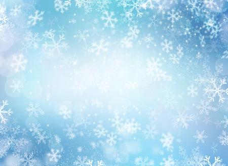 estrella de navidad: Invierno de la nieve Fondo de Navidad Abstract Backdrop