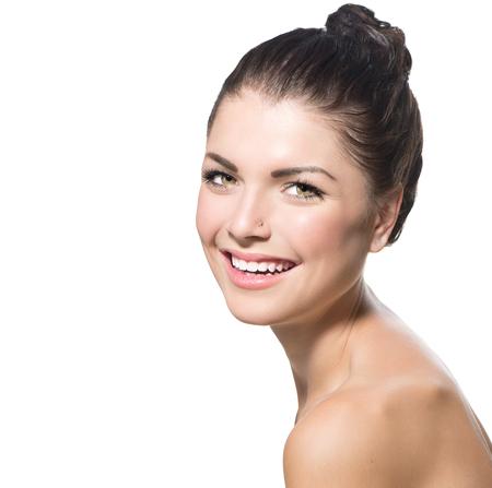 Beauty Portrait  Beautiful Spa Teenage Girl Face Stock Photo - 23246717