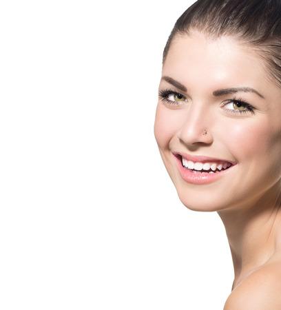Beauty Portrait  Beautiful Spa Teenage Girl Face Stock Photo - 23246649
