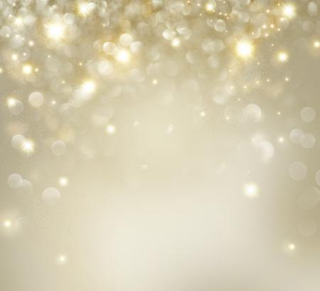 dorado: Oro de la Navidad Fondo de vacaciones con parpadeantes estrellas Foto de archivo