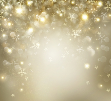 shimmering: Christmas  Golden Holiday Background With Blinking Stars