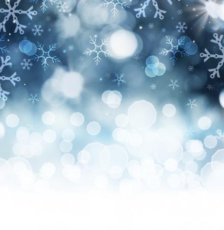 azul: Fundo de Inverno da neve do feriado de Natal abstrata