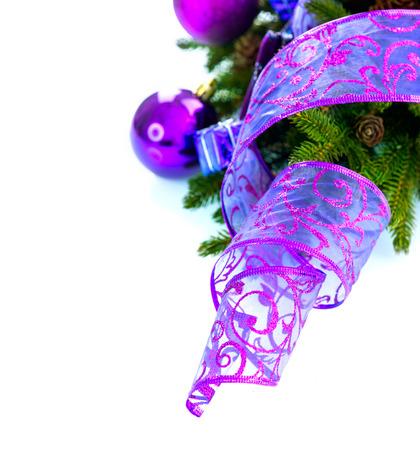 クリスマスと新年のつまらないものと装飾 写真素材