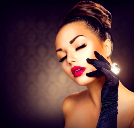 glamour: Beauty Fashion Glamour Girl Portrait Vintage Style M�dchen