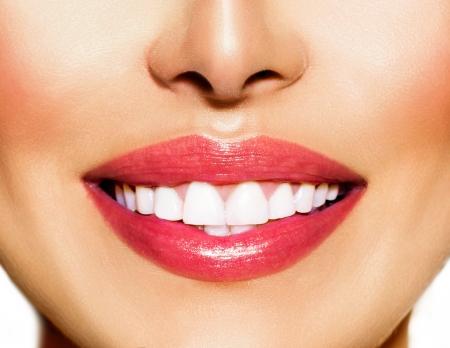 dentaire: Sourire dents saines blanchissant soins dentaires Concept Banque d'images