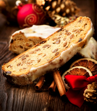 Christmas Stollen  Traditional Sweet Fruit Loaf
