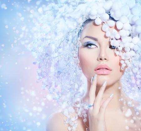 beauté: Femme Hiver Christmas Beauty Girl Makeup