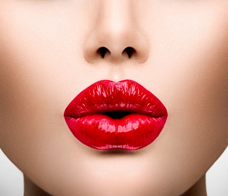 sexy lips: Sexy Lips  Beautiful Make-up Closeup Stock Photo