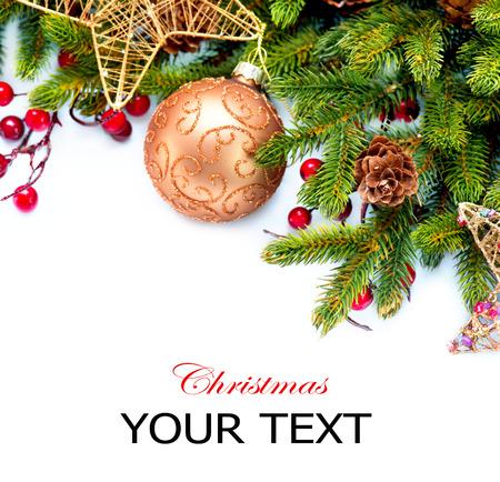 decoration design: Navidad decoraciones navide�as aislados en blanco