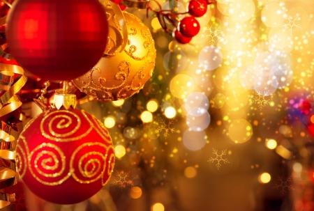 nouvel an: No�l et le Nouvel An D�corations Banque d'images