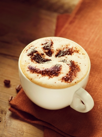 cappuchino: Cappuccino  Cup of Cappuccino Coffee Stock Photo