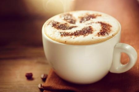 Cappuccino  Cup of Cappuccino Coffee 版權商用圖片