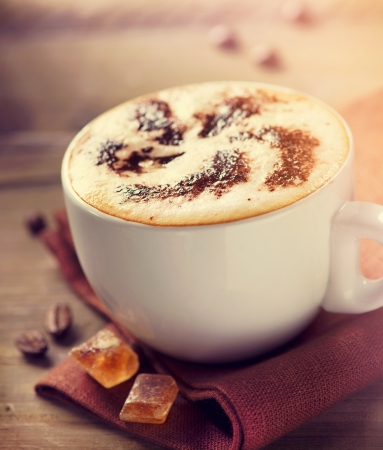 cup: Cappuccino  Cup of Cappuccino or Latte Coffee