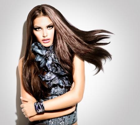 Beauty Fashion Vogue Style Woman Stock Photo - 24939626