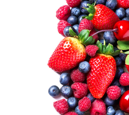 health: Bessen grens geïsoleerd op White Spring Organic Berry