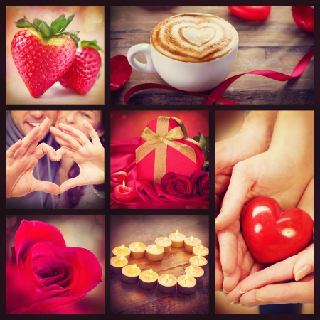 Valentine Collage  Valentines Day Hearts art design photo