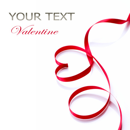 Valentine Heart  Elegant red satin gift ribbon