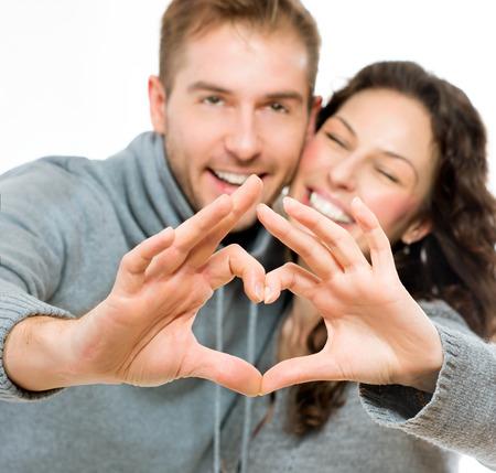 Valentine couple isolated on white background  photo