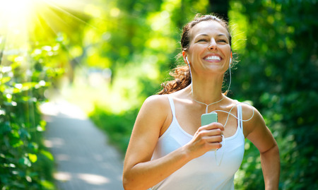 healthy girls: Running Woman  Outdoor Workout in a Park