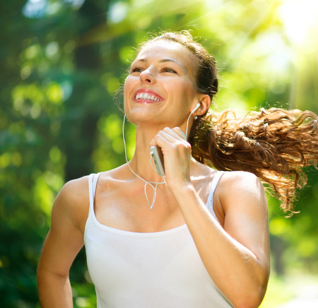 unning Woman  Outdoor Workout in a Park photo
