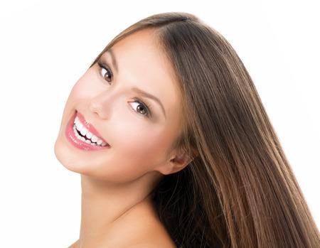 model  portrait: Bellezza ragazza faccia Bella adolescente modello ritratto della ragazza