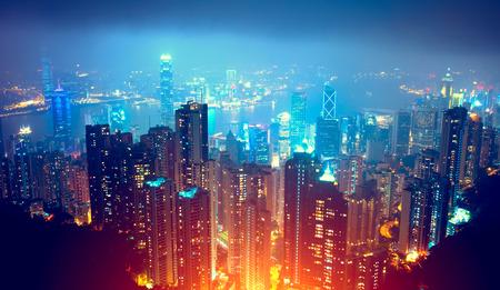 nighttime: Hong Kong Vista Nocturna