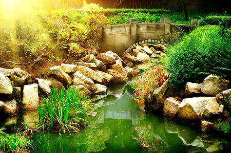 landscaped garden: Landscaped Garden with Pond  Park Landscape
