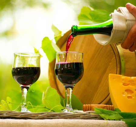 Red Wine and Cheese  Romantic Lunch Outdoor photo