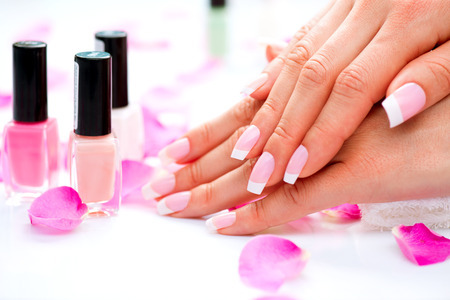 Manicure and Hands Spa  Beautiful Woman Hands Closeup Stock fotó - 27091529