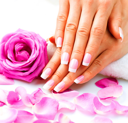 Manicure and Hands Spa  Beautiful Woman Hands Closeup