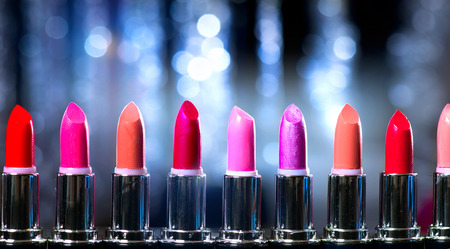 colours tints: Fashion Colorful Lipsticks  Professional Makeup and Beauty Stock Photo
