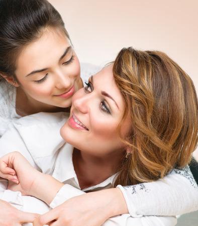 mere et fille: M�re et fille ado Banque d'images
