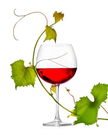 흰색 배경에 고립 된 와인의 유리