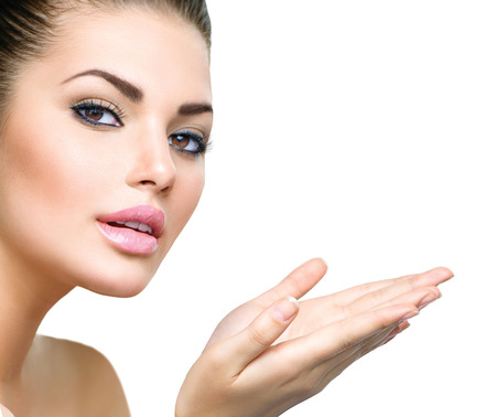 Beautiful Young Woman with Clean Fresh Skin Stock Photo - 29012446