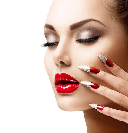 Mode Beauté Modèle Fille de manucure et de maquillage Banque d'images - 29388893