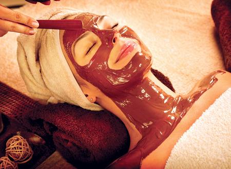 depilaciones: Spa de lujo del chocolate m�scara facial Beauty Spa Salon