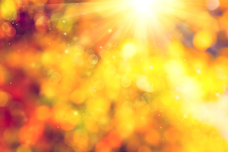 sunbeam: Autumn. Blurred fall abstract autumnal background Stock Photo
