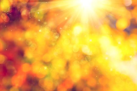 słońce: Jesień. Jesienny spadek streszczenie niewyraźne tło Zdjęcie Seryjne