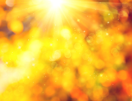 light rays: Autumn. Blurred fall abstract autumnal background Stock Photo