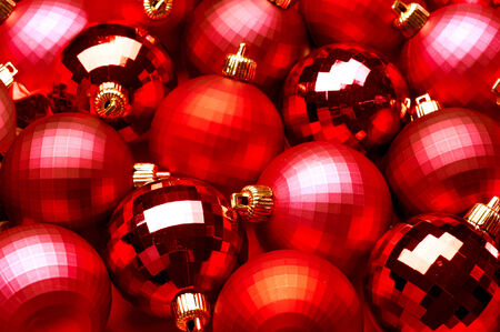 Christmas and New Year Decoration. Baubles Background photo