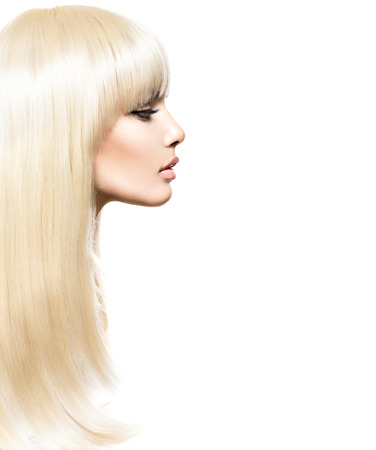 Blond Hair. Blonde Beauty girl with long smooth shiny hair Stock Photo - 32973627