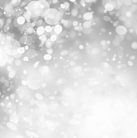 sparkles: Christmas Silver Holiday Abstract Glitter Background