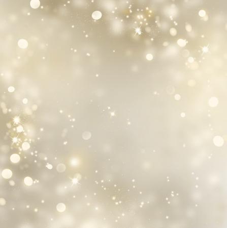 クリスマス金背景。ゴールデン休日熱烈な背景