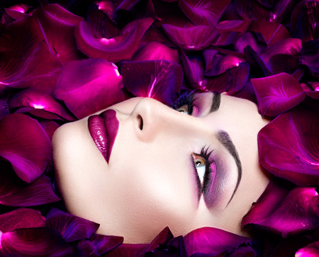 Nagy divat divatos stílusú modell portré rózsaszirom Stock fotó