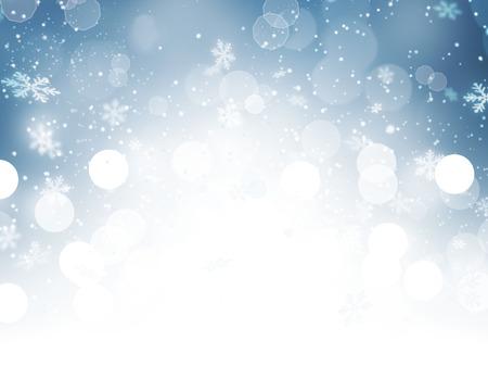 lumieres: Contexte de No�l. Contexte de vacances d'hiver de neige Banque d'images
