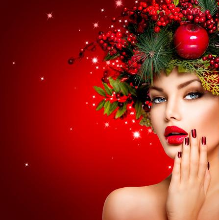 blinking: Christmas Background. Red Holiday Blinking Background Stock Photo