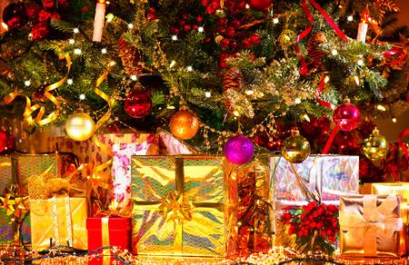 Christmas and New Year celebration. Holiday Christmas scene