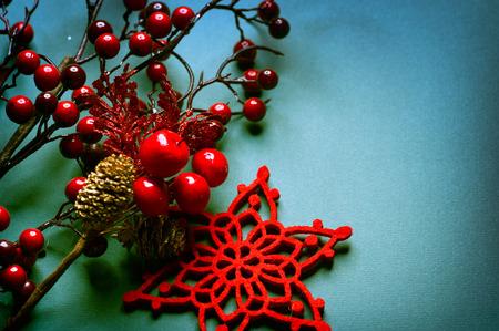 Christmas vintage background. Old styled shabby card design photo